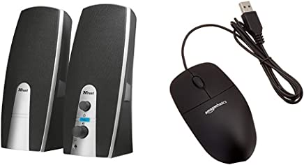 Trust Mila Set Altoparlanti 2.0, nero [vecchio modello] & AmazonBasics Mouse USB, 3 pulsanti - Trova i prezzi più bassi