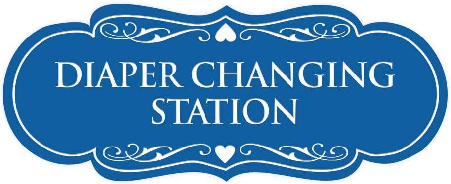 Signs ByLITA Designer Diaper Changing Station Sign(Blue) - Small