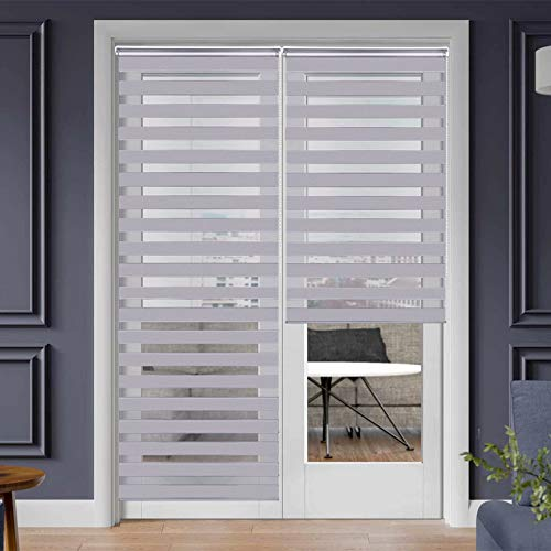 SEEYE Zebra Shade Blinds Horizontal Window Curtain Day and Night Blind Dual Layer Shades Easy to Install 33.5
