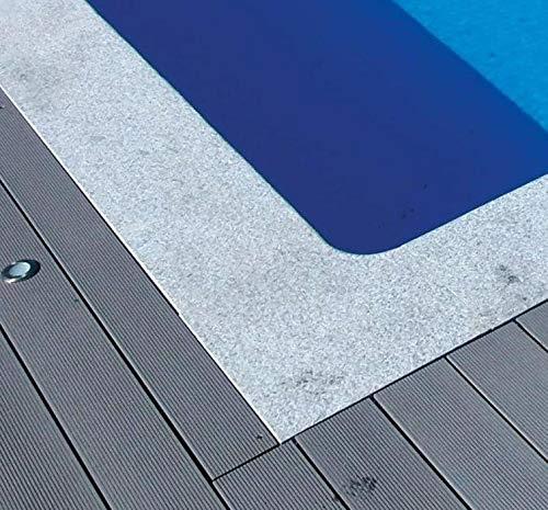 KWAD Beckenrandsteine Cristal Grey rechteck Komplettpaket 3,00m x 6,00m / 300 x 600 cm Randsteine Pool Rechteckpool