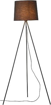 Brilliant lamp Ailey lampadaire à trois pieds noir |1x A60, E27, 60W, adapté aux lampes standard (non incluses) |Échelle A ++ à E |Avec pédale 92660/06