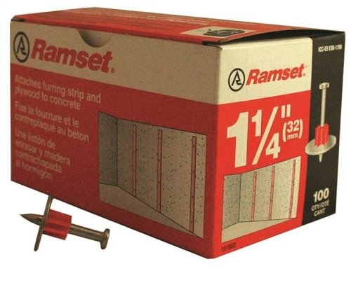 Ramset Powder Fastening Systems 1510SD 1-1/4-Inch Washered Pins, 100 Pack