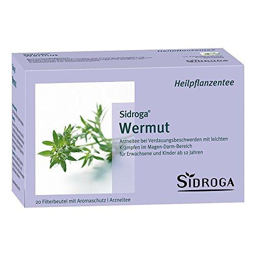 SIDROGA Wermut Tee Filterbeutel 20X1.0 g