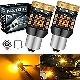 NATGIC BAU15S PY21W (150 °) Ampoules Clignotants LED Ambre Jaune Orange 3700LM 3030 45 SMD Canbus sans Erreur Anti-Hyper Flash pour Clignotants LED Avant ou Arrière de Voiture (Pack de 2)