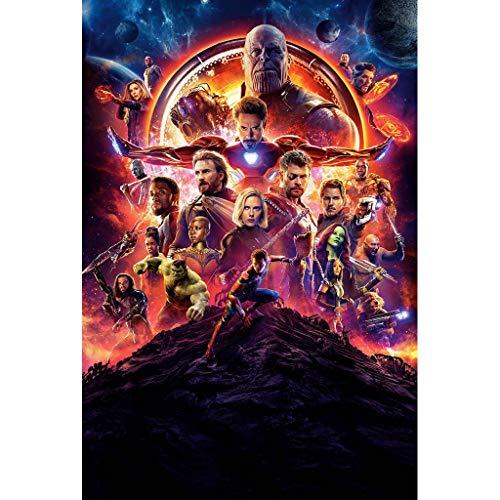 UOPMT-a Marvel Avengers Puzzle 300/500/1000/1500 Piezas de Rompecabezas de Madera descompresión Juguetes para Adultos 0430-P (Color : A, Size : 300p)