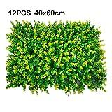 Gazon PING- 12 Panneau Haie Artificiel, PE Big Eucalyptus Lawn for La Décoration De Clôture Murale Intérieure Et Extérieure Anti-ultraviolette 40x60cm / Pièce (Color : B)