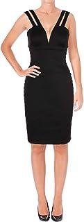 GUESS womens Black Scuba Dress Cocktail Dress