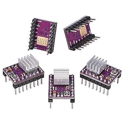 Electrely 5Pcs StepStick DRV8825 Stepper Motor Driver Module Reprap 4-Layer PCB Board with Heatsink for 3D Printer Reprap RP A4988