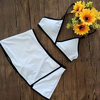 Skirt Sexy Ladies Split bikinii Swimsuit White S
