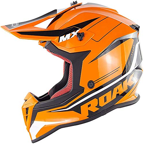 ZHXH Motocross Helm, Erwachsene Männer und Frauen Immergrüne abnehmbare Street Bike/Roller Helm Dot Approved,