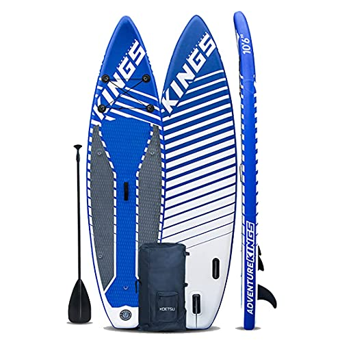 CDPC Stand Up Paddle Board Inflable Isup Board Cubierta Inflable Antideslizante, Drybag Inflable, Funda Impermeable para teléfono 320Cm * 81Cm * 15Cm para Adultos y Adolescentes