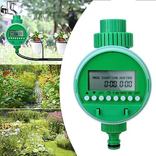 Programmatore Irrigazione, MKNZOME Temporizzatore Irrigazione LCD Timer Irrigatore Automatico Centralina Irrigazione per Giardino Prato Serra Balcone Agricoltura Orto