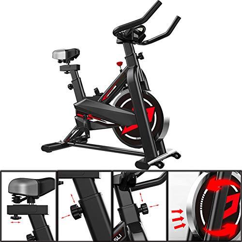 Professionele indoor cycling hometrainer, rechtop stille riemaandrijving spinfiets met verstelbaar stuur en stoel, home aerobic training fitnessapparatuur