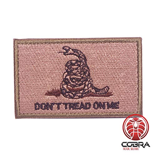 Cobra Tactical Solutions Don\'t Tread On Me Grün Militär bestickten Patch mit Klettverschluss für Airsoft Paintball