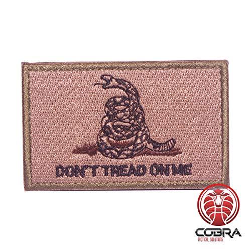Cobra Tactical Solutions Don\'t Tread On Me Grün Militär bestickten Patch mit Klettverschluss für Airsoft Paintball