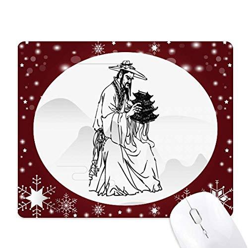 ppriest dao religion encre de chine tapis de souris en hiver flocon de neige