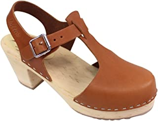 Lotta From Stockholm Women's Highwood T-Bar Ankle-High Leather Clogs