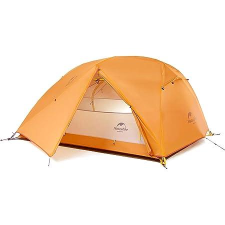 Naturehike公式ショップ テント 2人用 アウトドア 二重層 超軽量 4シーズン 防風防水 PU4000 キャンピング(専用グランドシート付)