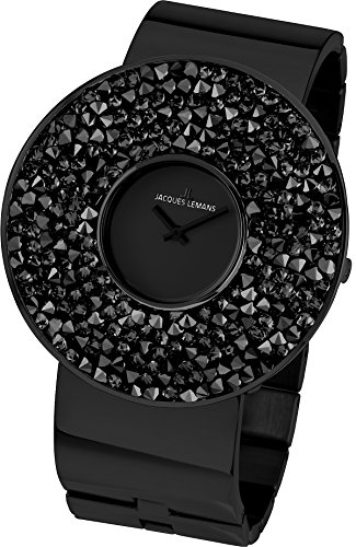 Jacques Lemans Damen-Armbanduhr XL Flora Analog Quarz Edelstahl beschichtet 1-1789F