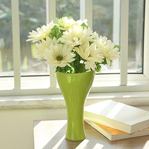 LLPXCC künstliche Blume Kreativ Home floral Esstisch ein Wohnzimmer eine moderne einfache Europäischen dekorative Blumen Orchideen Hallenbad TV-Schränke Topfpflanzen Weiß