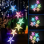 Yooda Color Changing Wind Chime Solar Powered Hummingbird Wind Chime Lights Wind Mobile Portable Waterproof Outdoor Decorative Wind Bell Light for Home Party Night Garden Decoration 2