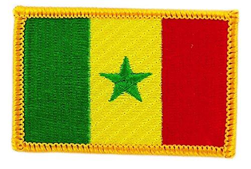 Opnaaier, geborduurd, vlag Senegal Senegal, om op te strijken, voor rugzak
