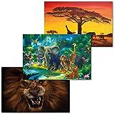GREAT ART 3er Set XXL Poster Kinder Motive – Animal