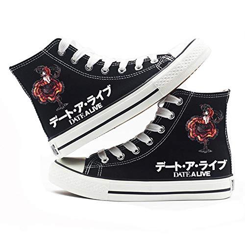 Csqw Unisex canvasschoenen voor kinderen en jongeren, cosplay-schoenen van zeildoek voor dames en heren, voor ontmoetingen met hoog paneel, Q