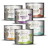 MjAMjAM Mangime Umido per Cani, Mix Pack II 1 Pollo & Anatra, 1 Bovino, 1 Tacchino e Riso, 1...