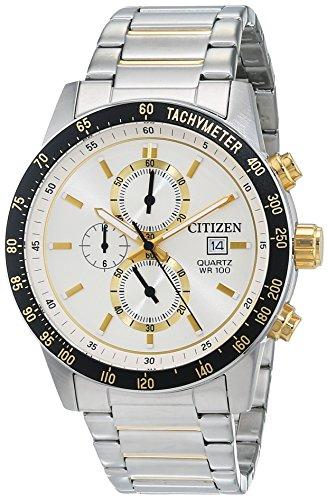 Citizen Men's AN3604-58A Silver Stainless-Steel Japanese Quartz Fashion Watch