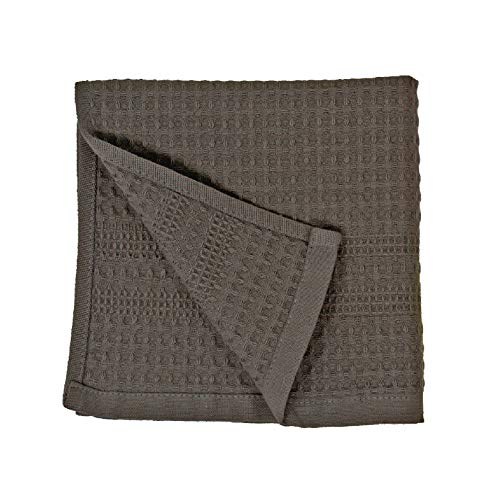 Premium Waffle Weave Washcloth 100% Natural Cotton Quick Dry Soft Luxurious Highly Absorbent Fabric Small Face Towel No Lint Fade Resistant Color (Stone)