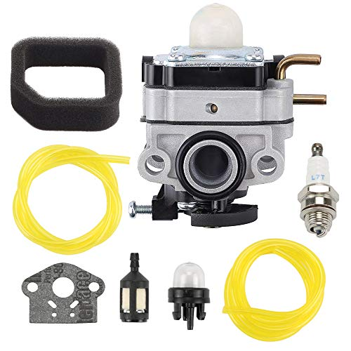 Mengxiang 753-06258 75306258A Carburetor for Ryobi RY254BC RY252CS RY253SS RY251PH 2 Cycle 25cc Troy Bilt TB516EC Edger 29cc 4 Stroke Engine Cultivator Trimmer Replace 307160001 316299372 316773800
