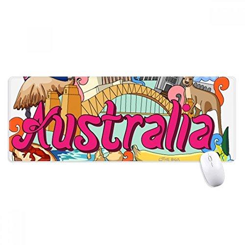 beatChong Känguru-Hafen-Brücke Australien Graffiti Griffige Mousepad Große Erweiterte Spiel Büro titched Kanten Computer-Mat Geschenk