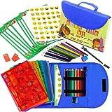 Kit de Plantillas de Dibujo para Niños 55-Piezas| Divertido Conjunto de Actividades de Viaje