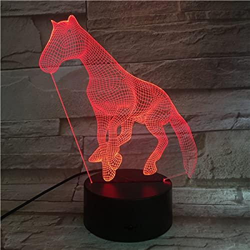 Yyhmkb Estrella Amarilla Apagues Mesa Larga Tripod Fiesta De Cumpleaños Luz De Noche Tridimensional Creativa Pony En Ejecución Colorido Cambio De Color Lámpara De Mesa Gradiente Táctil