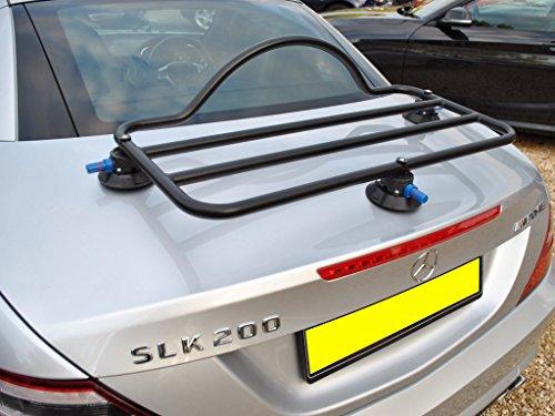 Mercedes SLK R172 Luggage Rack Revo Rack Black Unique Design, No Clamps No Straps No Brackets No Paint Damage