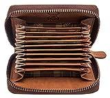 Hill Burry Echt-Leder Kredit-Kartenetui Geldbörse RFID | Portemonnaie - Brieftasche...