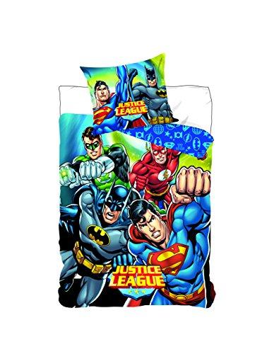 Justice League DC Comics–Juego de cama funda de edredón 140x 200cm funda de almohada 63x 63cm