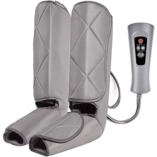 Find Bargain Leg Air Massager For Circulation Sequential Compression Wraps, Foot And Calf Massage Wi...