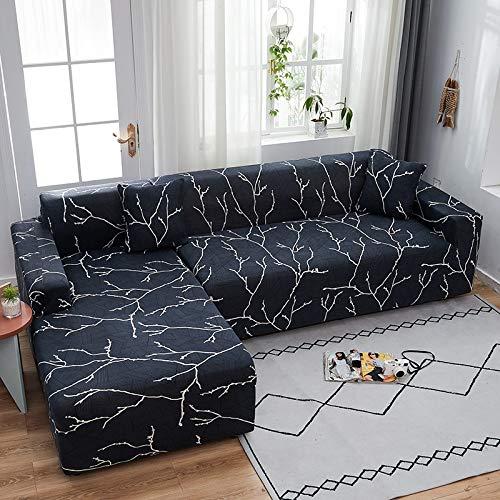 PPMP Funda de sofá elástica elástica, Utilizada para la Funda de sofá de Spandex de la Sala de Estar, Funda de sofá, Toalla de sofá elástica, Forma de L, Funda de sofá A1 de 3 plazas