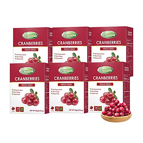 Frenature Freeze Dried Cranberries, Freeze Dried Fruits from Canada,...