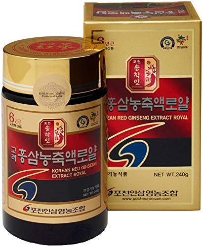 Pocheon 240g(8.5oz), 100% Pure Korean 6Years Root Panax Red Ginseng Extract Royal, 70% Solid State, Saponin