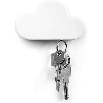 QTMY White Cloud Magnetic Wall Key Holder (White)