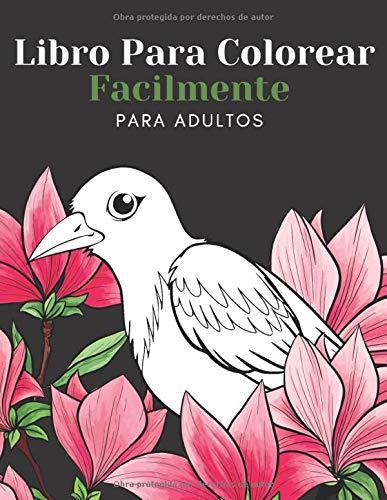 Libro Para Colorear Facilmente Para Adultos: Diseños Grandes Y Fáciles Para Personas Mayores O Para Principiantes…Personas Mayores Regalos