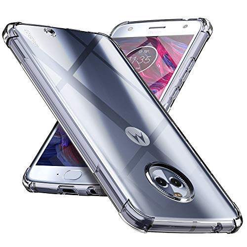 CASEVASN Moto X4 Case, [Shockproof] Anti-Scratches Flexible TPU Gel Slim Fit Soft Skin Silicone Protective Case Cover for Motorola Moto X4 (Clear)