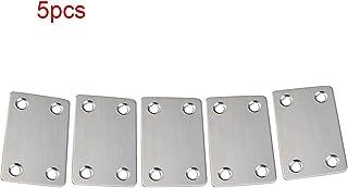Acero Inoxidable Soportes de Placa Plana,10 Piezas Soportes de Soportes de Esquina Planos Inoxidable Soporte de Placa Plana Con 20Pcs Tornillos 60x16mm
