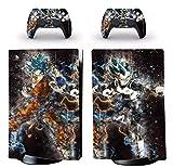 Pegatina de Vinilo Para PlayStation 5 Edición Digital y 2 Controladores - Edición Dragon Ball