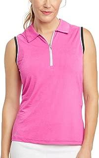 GGblue Women Kathy Sleeveless Golf Polo Magenta/Black/White X-Large