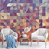 Wallpaper Multicolored Mosaic Mural Wallpaper Decor Photo Mural for Rooms (Peel and Stick, 185 x 100 in)