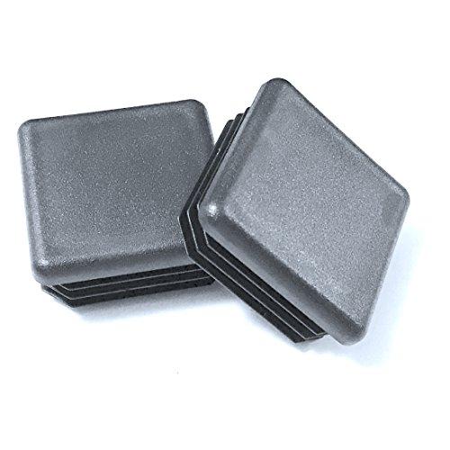 (4Stück)–11/10,2cm–3,2cm quadratisch schwarz Kunststoff 14–20GA (2,8cm -1.17
